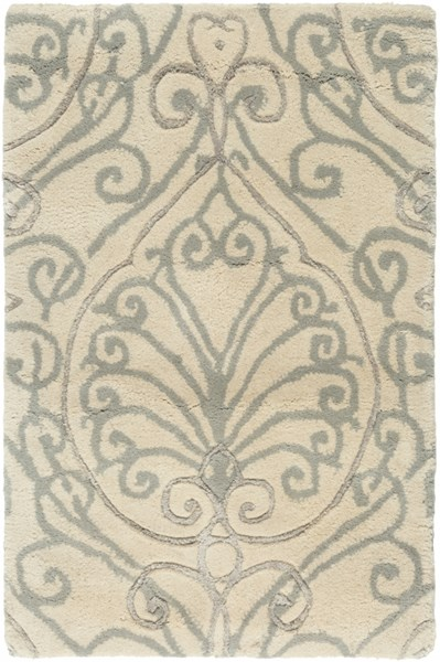 Modern Classics Ivory Gray Light Wool Area Rug (L 36 X W 24) CAN2012-23