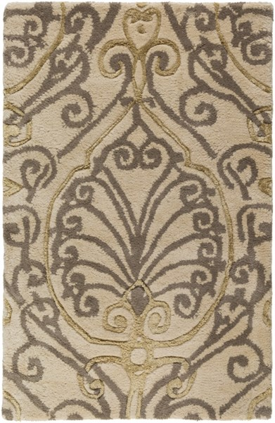 Modern Classics Taupe Gray Olive New Zealand Wool Area Rug - 24 x 36 CAN2013-23