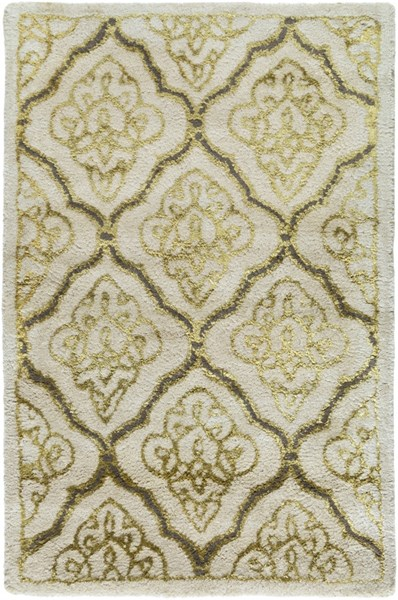 Modern Classics Ivory Gold Gray Wool Area Rug (L 36 X W 24) CAN2014-23