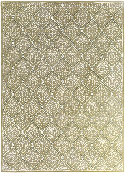 Modern Classics Ivory Gold Gray Wool Area Rug (L 132 X W 96) CAN2014-811