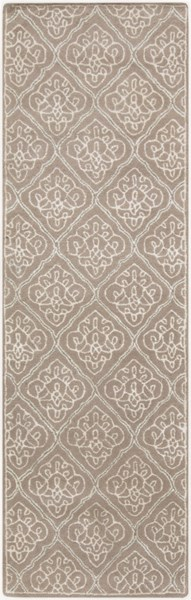 Modern Classics Taupe Ivory Gray Wool Runner (L 96 X W 30) CAN2015-268