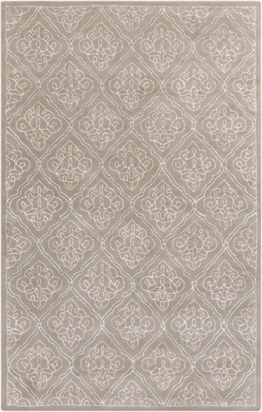 Modern Classics Taupe Ivory Gray Wool Area Rug (L 96 X W 60) CAN2015-58