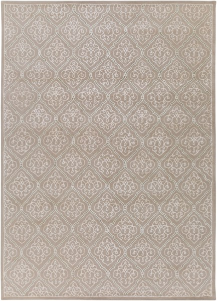 Modern Classics Taupe Ivory Gray Wool Area Rug (L 132 X W 96) CAN2015-811