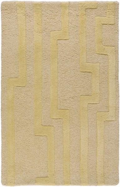 Modern Classics Contemporary Gold Beige Ivory Wool Rugs 682-VAR1