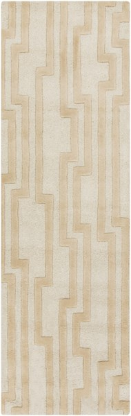 Modern Classics Contemporary Ivory Beige Wool Runner (L 96 X W 30) CAN2021-268
