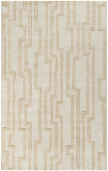 Modern Classics Contemporary Ivory Beige Wool Area Rug (L 96 X W 60) CAN2021-58