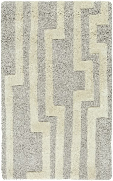 Modern Classics Gray Ivory Wool Area Rug (L 36 X W 24) CAN2023-23