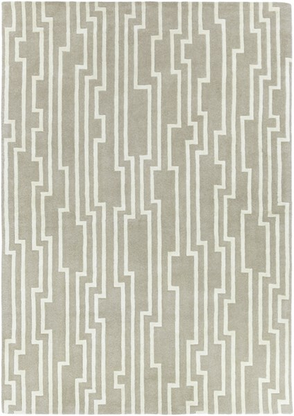Modern Classics Gray Ivory Wool Area Rug (L 96 X W 30) CAN2023-811