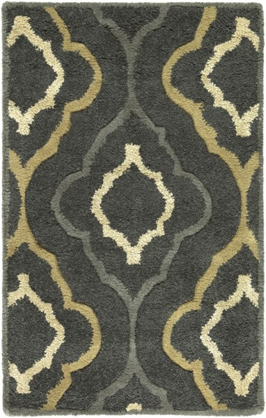 Modern Classics Forest Gray Olive Wool Area Rug (L 36 X W 24) CAN2025-23