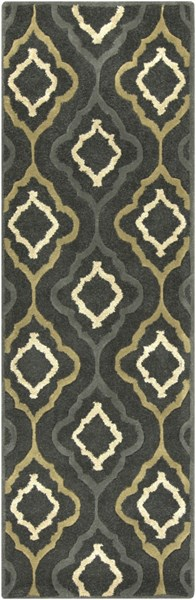 Modern Classics Forest Gray Olive Wool Runner (L 96 X W 30) CAN2025-268