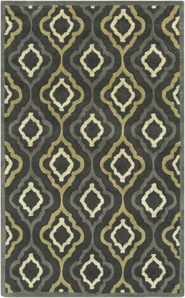 Modern Classics Forest Gray Olive Wool Area Rug (L 96 X W 60) CAN2025-58