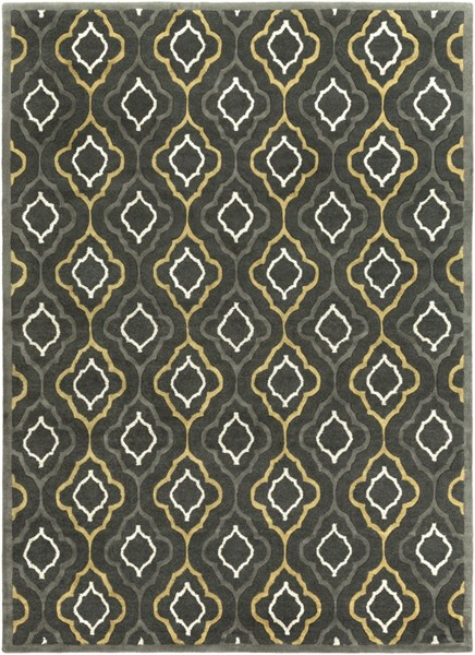 Modern Classics Forest Gray Olive Wool Area Rug (L 132 X W 96) CAN2025-811