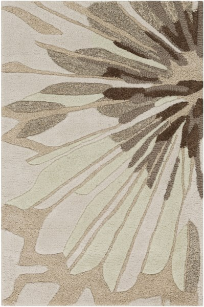 Modern Classics Beige Gray Olive New Zealand Wool Area Rug - 24 x 36 CAN2032-23
