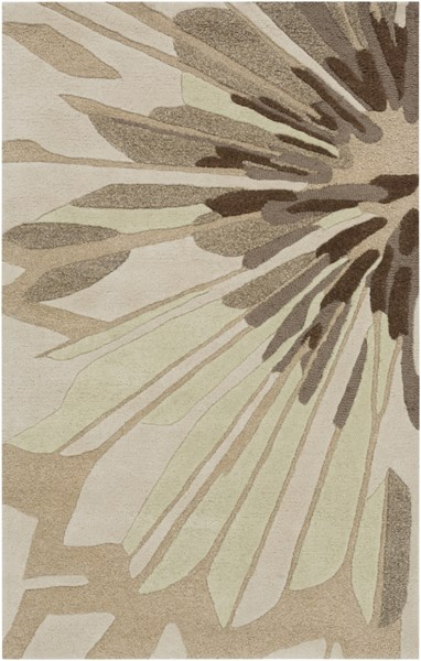 Modern Classics Beige Gray Olive New Zealand Wool Area Rug - 39 x 63 CAN2032-3353