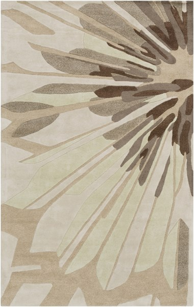 Modern Classics Beige Gray Olive New Zealand Wool Area Rug - 60 x 96 CAN2032-58