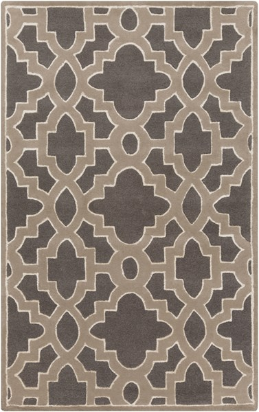 Modern Classics Charcoal Gray Ivory Wool Area Rug (L 96 X W 60) CAN2037-58