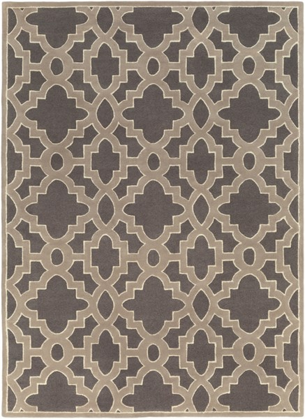 Modern Classics Charcoal Gray Ivory Wool Area Rug (L 132 X W 96) CAN2037-811