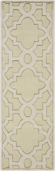 Modern Classics Light Gray Ivory Wool Runner (L 96 X W 30) CAN2038-268