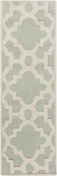 Modern Classics Ivory Gray Wool Runner (L 96 X W 30) CAN2039-268