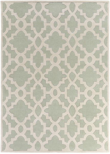 Modern Classics Contemporary Ivory Gray Wool Area Rug (L 132 X W 96) CAN2039-811