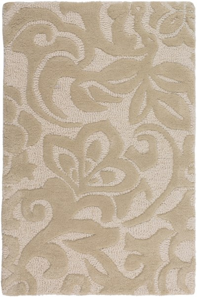 Modern Classics Contemporary Beige Ivory Wool Area Rug (L 36 X W 24) CAN2049-23