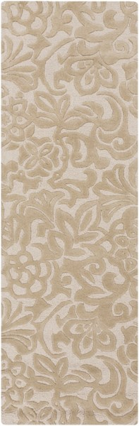 Modern Classics Contemporary Beige Ivory Wool Runner (L 96 X W 30) CAN2049-268