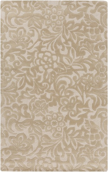 Modern Classics Contemporary Beige Ivory Wool Area Rug (L 96 X W 60) CAN2049-58