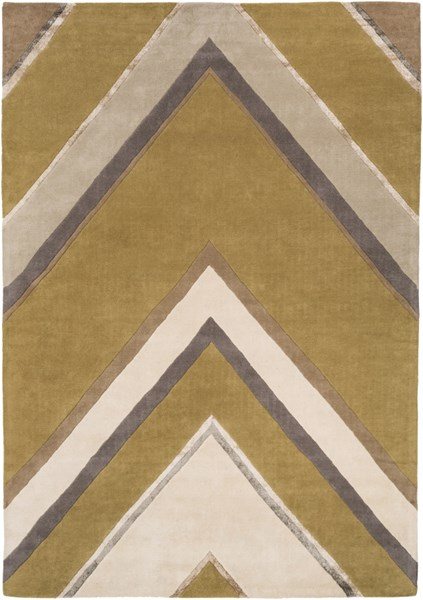 Modern Classics Beige Taupe Gray Wool Area Rug (L 132 X W 96) CAN2060-811