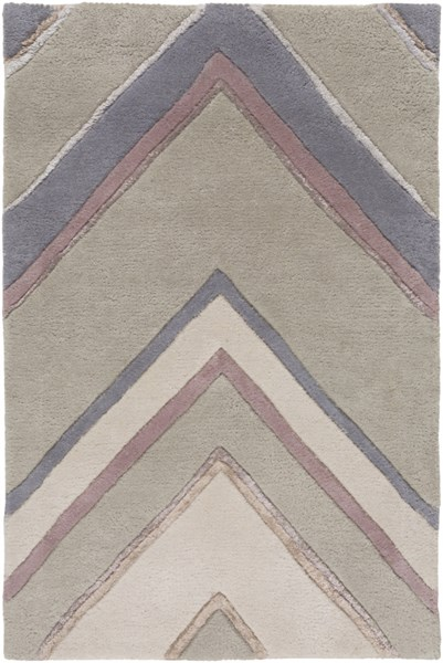 Modern Classics Charcoal Gray Beige Wool Area Rug (L 36 X W 24) CAN2061-23
