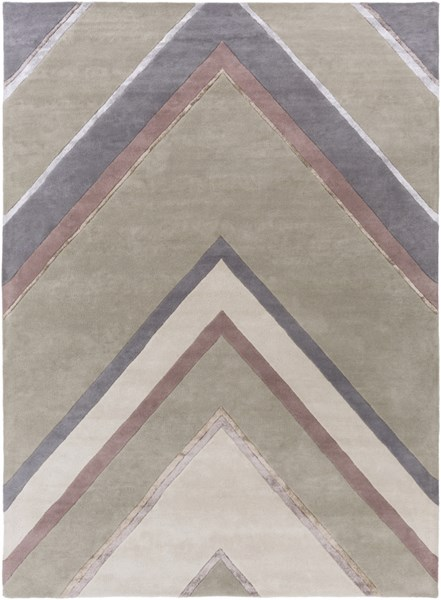 Modern Classics Charcoal Gray Beige Wool Area Rug (L 132 X W 96) CAN2061-811