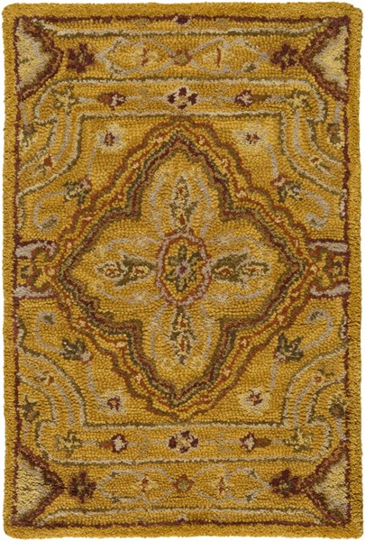 Carrington Traditional Cherry Beige Gold Fabric Area Rugs 685-VAR1