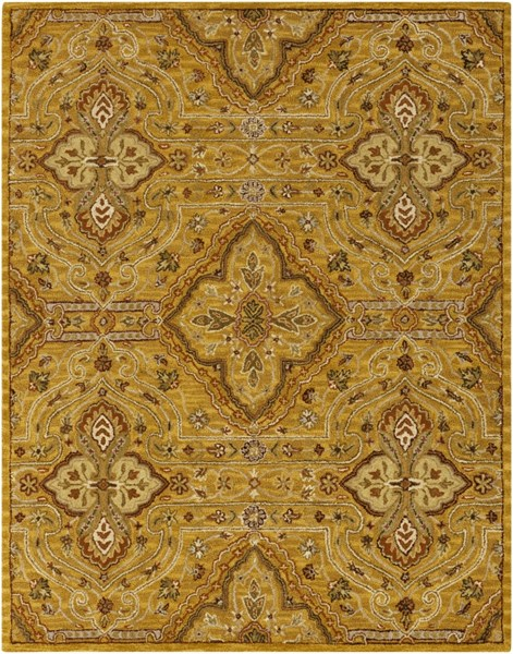 Carrington Cherry Beige Gold Wool Area Rug - 96 x 120 CAR1002-810