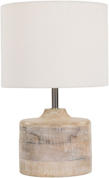 Surya Coast White Wood Table Lamp - 9.84x15.35 CAT972-TBL