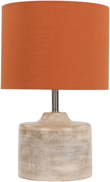Surya Coast Bright Orange Wood Table Lamp - 9.84x15.35 CAT973-TBL