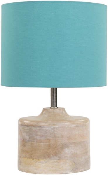 Surya Coast Aqua Wood Table Lamp - 9.84x15.35 CAT974-TBL