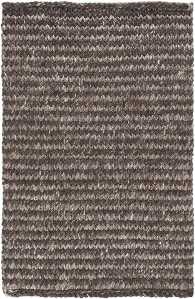 Cable Black Gray Taupe Viscose Wool Kids Rug - 24 x 36 CBL7000-23