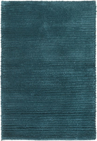 Cambria Contemporary Teal Fabric Area Rugs 507-VAR1