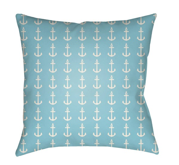 Surya Carolina Coastal Bright Blue Pillow Cover - 20x20 CC009-2020