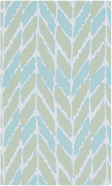 Cape Cod Mint Sea Foam Ivory Polyester Area Rug - 48 x 72 CCD1003-46