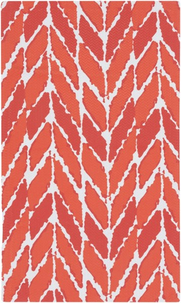 Cape Cod Tangerine Poppy Ivory Polyester Area Rug - 24 x 36 CCD1006-23