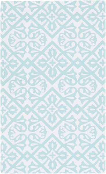 Cape Cod Mint Ivory Polyester Area Rug - 24 x 36 CCD1008-23