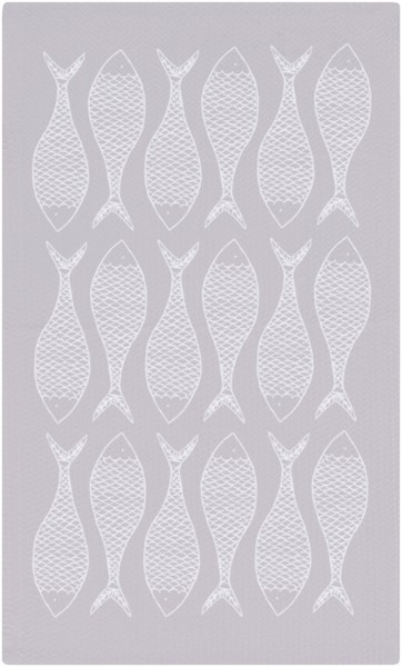 Cape Cod Light Gray Ivory Polyester Area Rug - 24 x 36 CCD1017-23