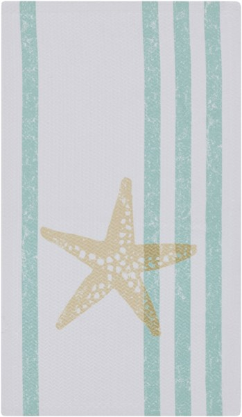 Cape Cod Light Gray Mint Lime Polyester Area Rug - 24 x 36 CCD1021-23