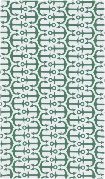 Cape Cod Emerald Kelly Green Ivory Polyester Area Rug (L 36 X W 24) CCD1026-23