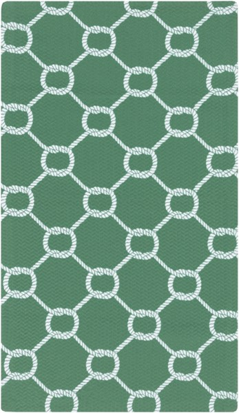 Cape Cod Emerald/Kelly Green Ivory Polyester Area Rug - 24 x 36 CCD1032-23