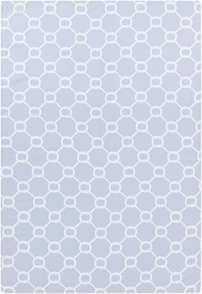Cape Cod Sky Blue Ivory Polyester Area Rug - 24 x 36 CCD1037-23