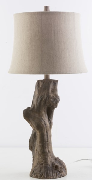 Cedarcreek Driftwood Resin Burlap Table Lamp - 15x32 CCK547-TBL