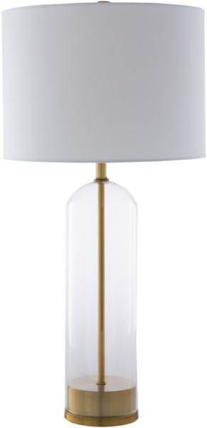 Surya Carthage White Gold Glass Table Lamp - 14x29 CGE-001