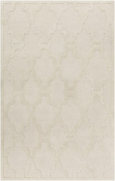 Chandler Contemporary Ivory Wool Hand Hooked Rectangle Area Rug CHA4000-58