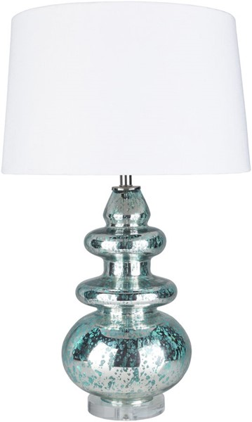 Surya Channing Aqua White Glass Table Lamp - 18x28.50 CHG-001